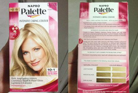 Review Napro Palette 10 1 Ultra Light Ash Blonde Daisy Shines